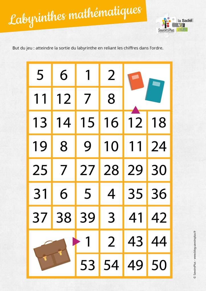 Labyrinthes mathématiques_Savoirs plus