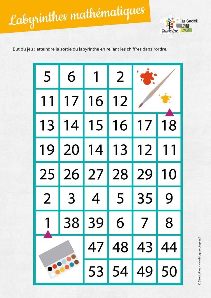 Labyrinthes mathématiques_Savoirs plus2
