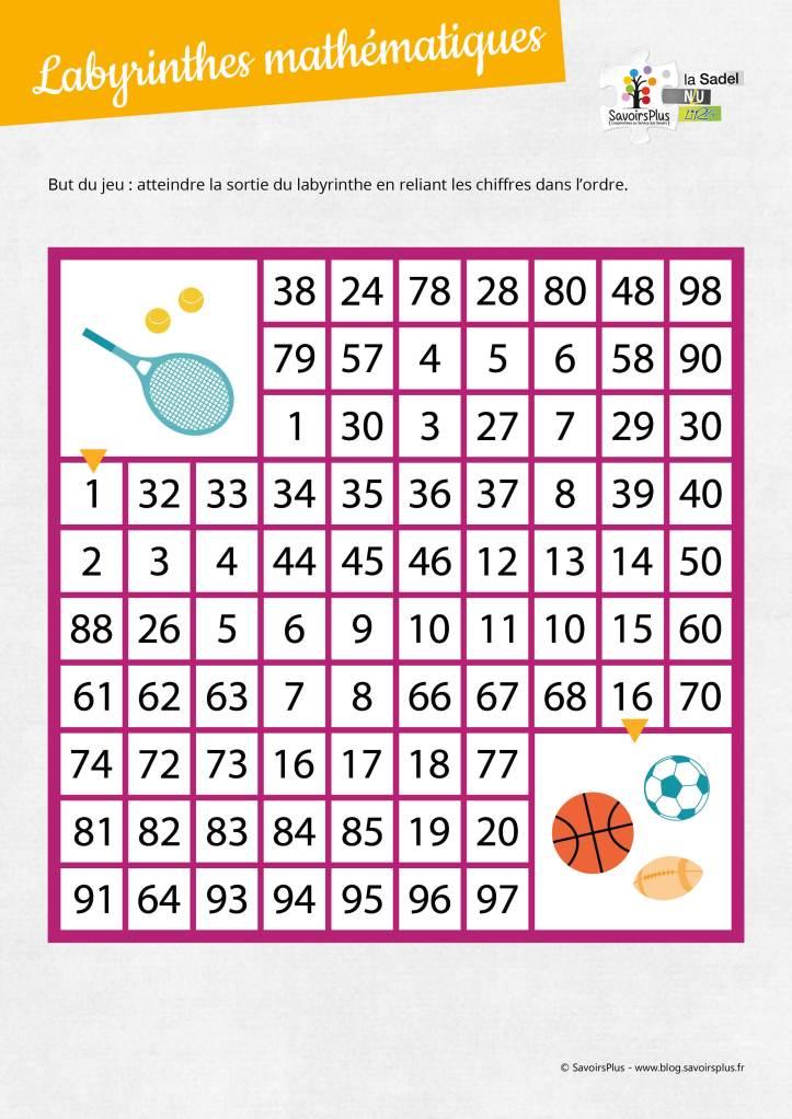 Labyrinthes mathématiques_Savoirs plus3
