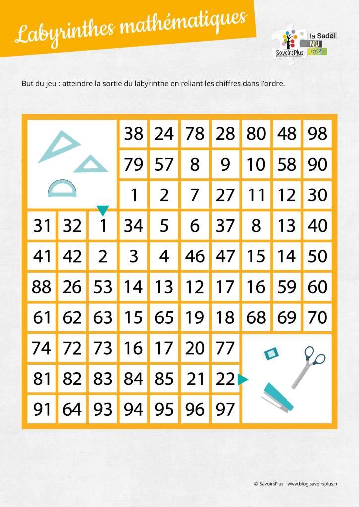 Labyrinthes mathématiques_Savoirs plus4